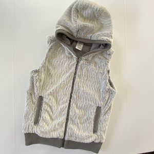 Patagonia Zip Up Hooded Vest Fuzzy Gray S Conejos
